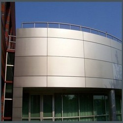 Al ruwad aluminium wood industries dubai sharjah for Aluminium composite panel interior decoration